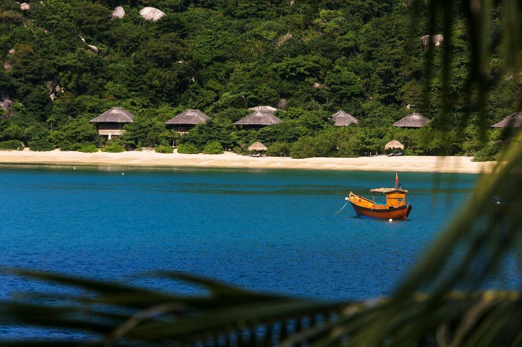 Beach Villas Peeking out from the Sea