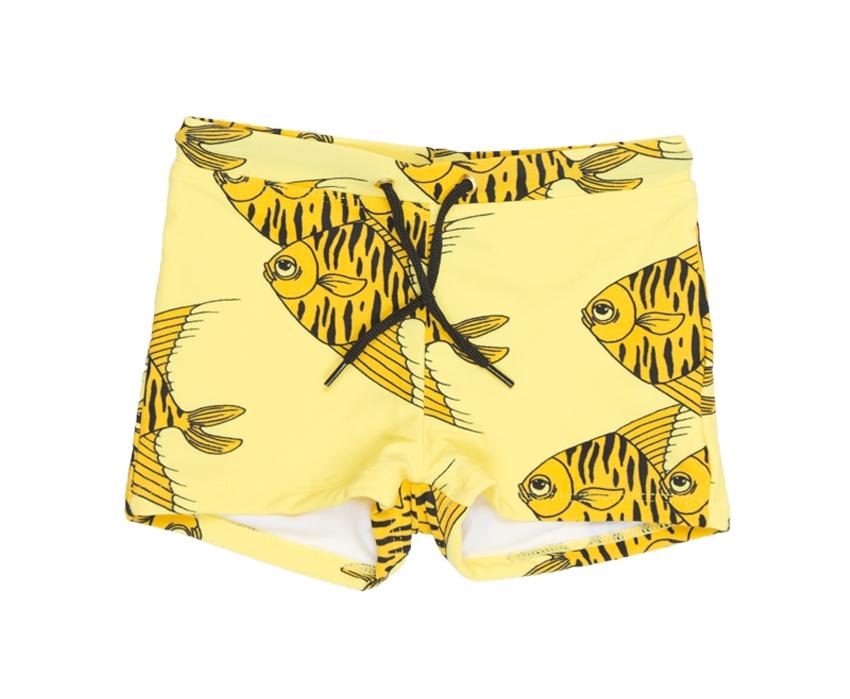Mini Rodini Fishes Swimpants in Yellow